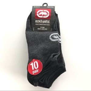 Ecko Unlimited men's low cut socks 10 pack 6-12
